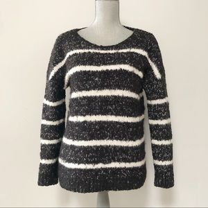 Calvin Klein chunky textured knit striped sweater